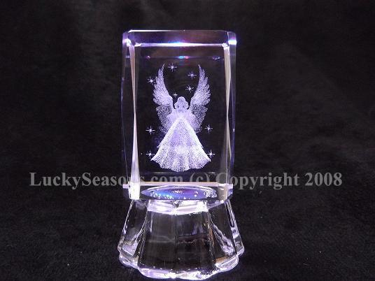 "2.5"" angel crystal with lights"