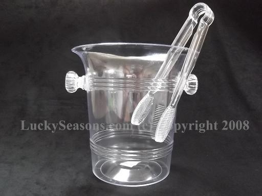 "6"" Ice Bucket with Tongs"