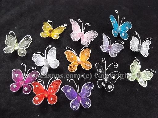 "1"" sheer butterfly w/ wired edge"