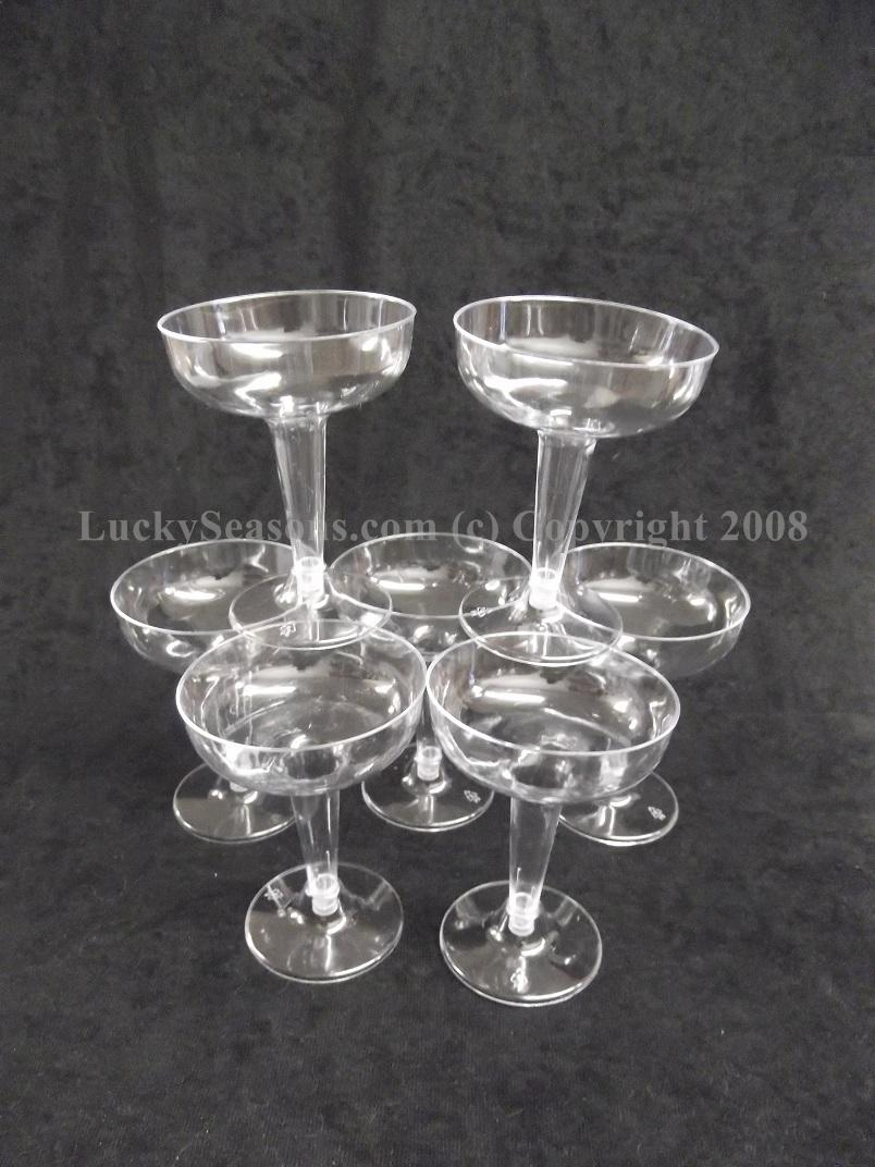 "4.5"" Plastic Wide Mouth Champagne Cups"