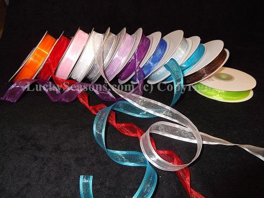 "5/8"" Shimmering Sheer Organza Ribbon w/ Satin Edges (25 Yds)"
