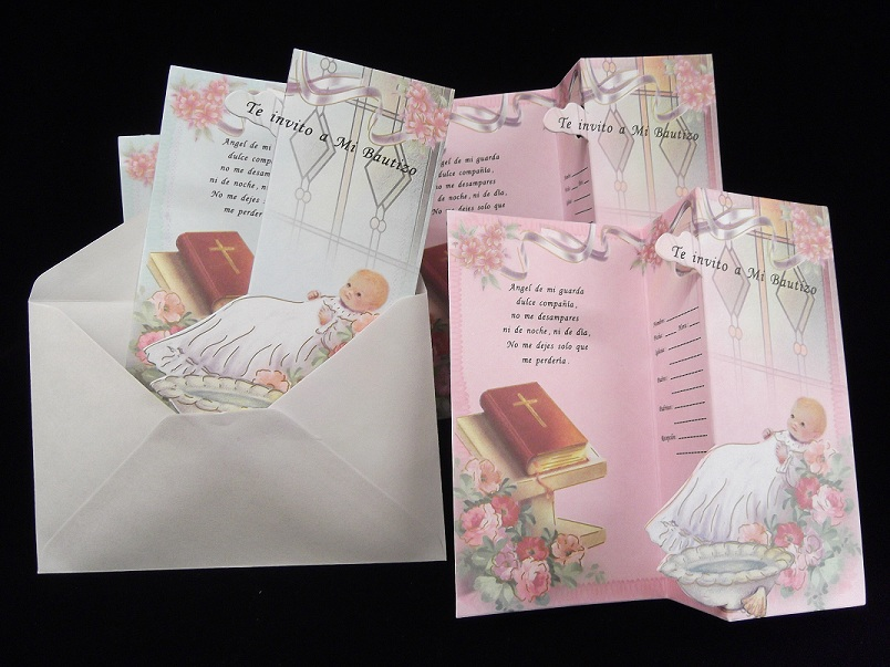 "6.75"" Mi Bautizo w/ Bible Invitations"