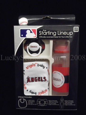 MLB Bottle+Pacifier+Bib Set