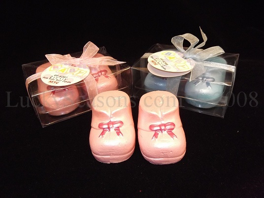 "2.5"" Baby Booties Candle w/ gift box"