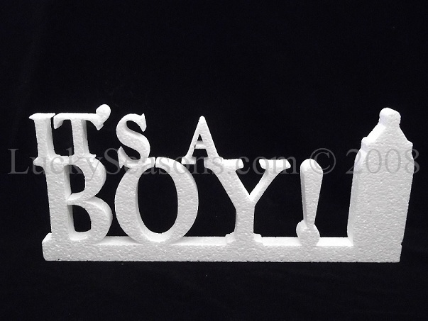 """It's A BOY"" 3D Foam w/stand (Large- 11.5"")"
