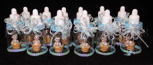 "3.5"" Decorated Plastic Baby Bottles"