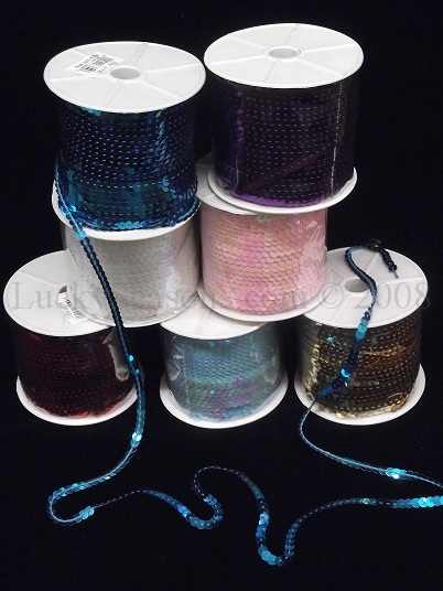 Sequin Ribbon (100 Yards) - Click Image to Close