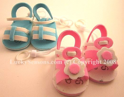 "2.5"" Foam Baby Shower Foam Sandals (Key Chain)"