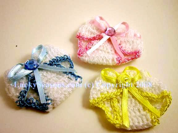 "2.25"" Baby Shower Knit - Two Tone Diaper"