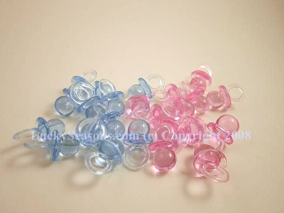 "1"" Baby Shower Pacifier - Click Image to Close"