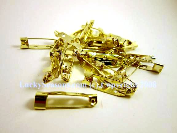 "1"" metal gold pins"