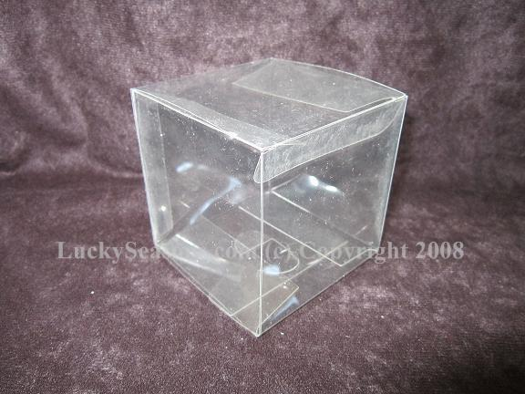 "3"" clear square plastic box"