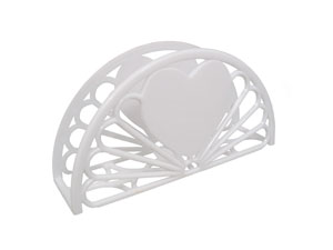 "7"" Napkin Holder - Fan & Heart Design"