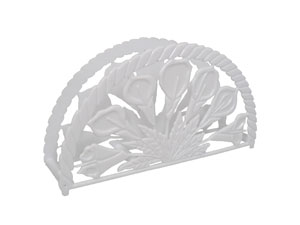 "7"" Napkin Holder - Floral Design"