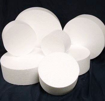 "4"" Thick Round Foam Dummy Cakes"
