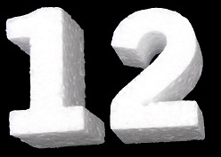 3D Foam Numbers- 12 Inches