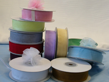"7/8"" Sheer Organza Pull Ribbon"